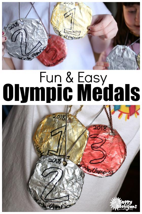 Easy Olympic Medals Craft for Kids - Happy Hooligans