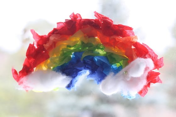 Easy Rainbow Craft for St. Patrick's Day
