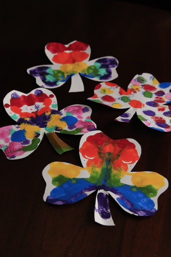 Shamrock craft for kids for St. Patrick's Day