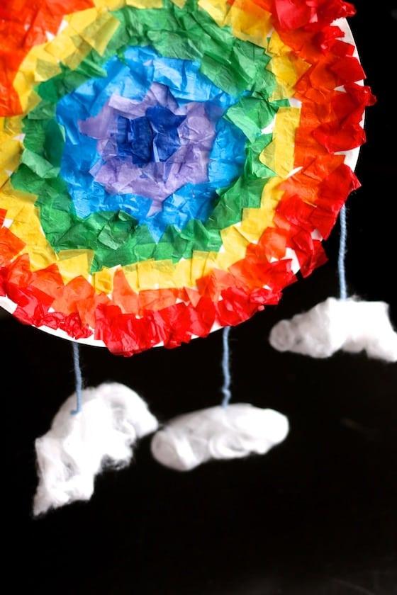 rainbow mandala craft for kids