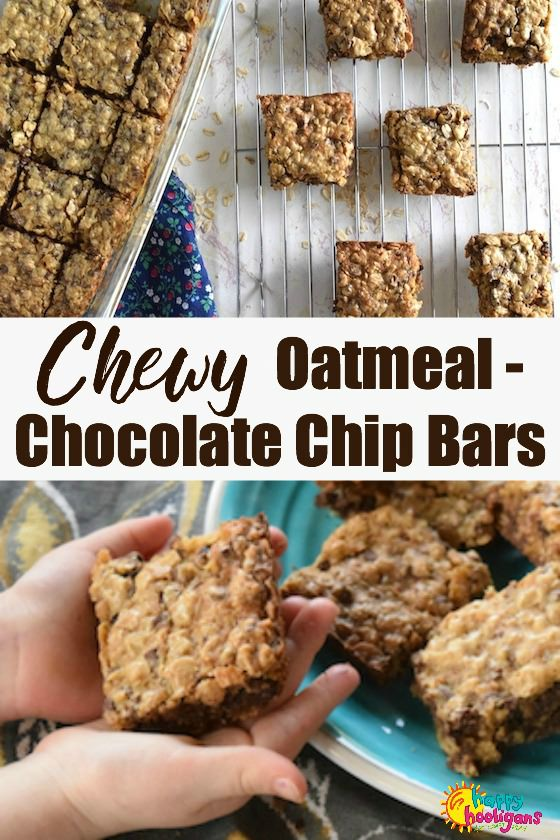 Chewy Oatmeal Chocolate Chip Bars