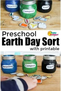 Compost and Recycling Sorting Activity For Preschoolers – With Printable