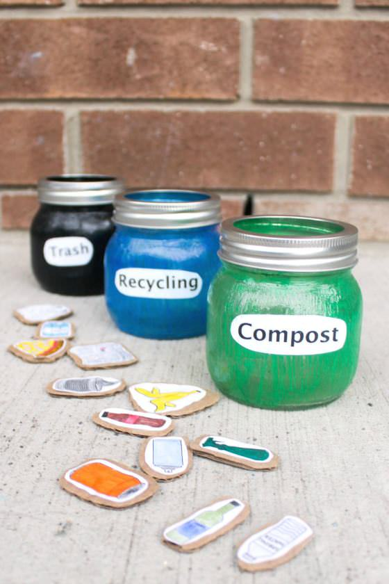 Composting and Recycling Sorting Activity for Preschoolers - Happy Hooligans