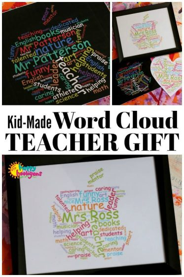 Teacher Appreciation Word Cloud - Unique Gift for Male or Female Teacher