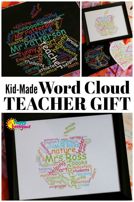 Teacher Appreciation Word Cloud – Gifts For Male Or Female Teachers