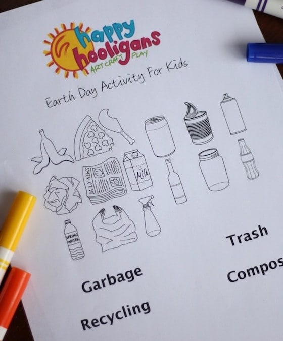 Recycle Sorting Activity Printable