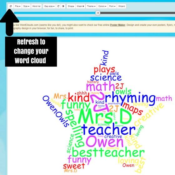 Teacher Appreciation Word Cloud - Happy Hooligans