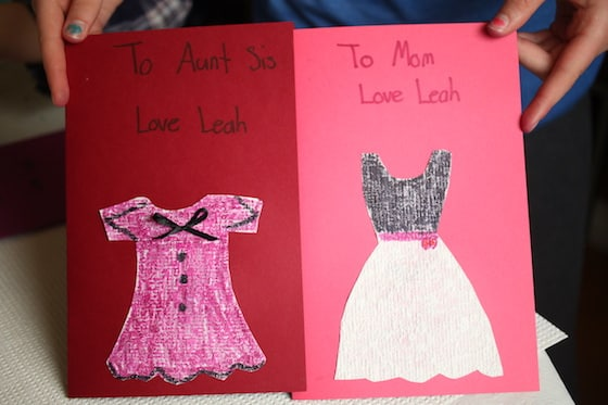 2 mothers day cards made by child