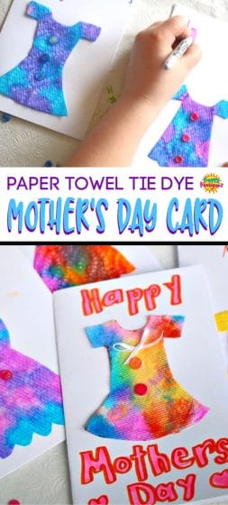 Paper Towel Tie Dye Mother's Day Card
