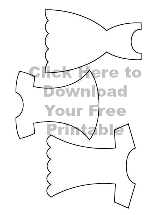 Free Printable Dress Template for Mother's Day Cards