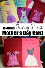 """Fancy Dress"" Mother's Day Card For Kids to Make (with Wall Paper Samples)"
