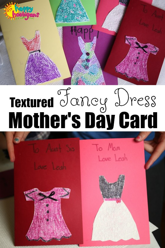 Textured Fancy Dress Mother's Day Card - Happy Hooligans