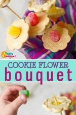 Cookie Flower Bouquet For Kids to Make for Mother's Day