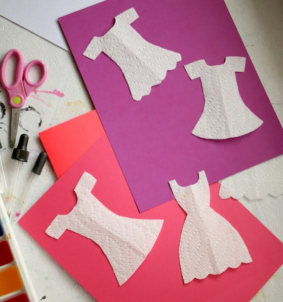 paper dress cutouts