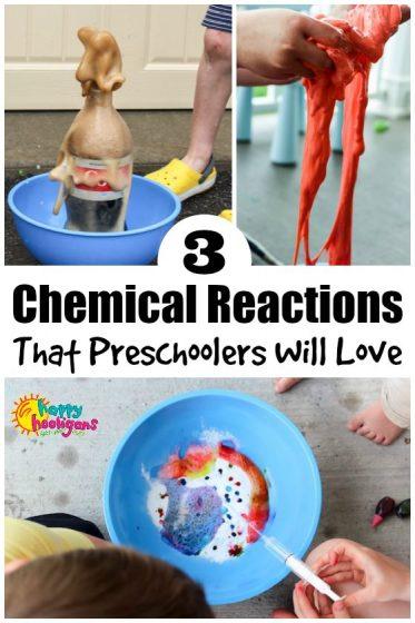 3 Chemical Reactions for Preschoolers - Happy Hooligans