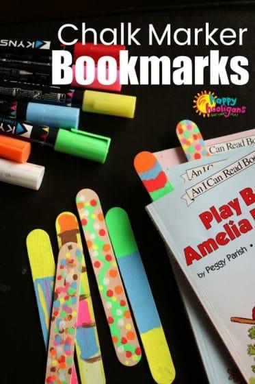 Chalk Marker Bookmarks for Kids to Make