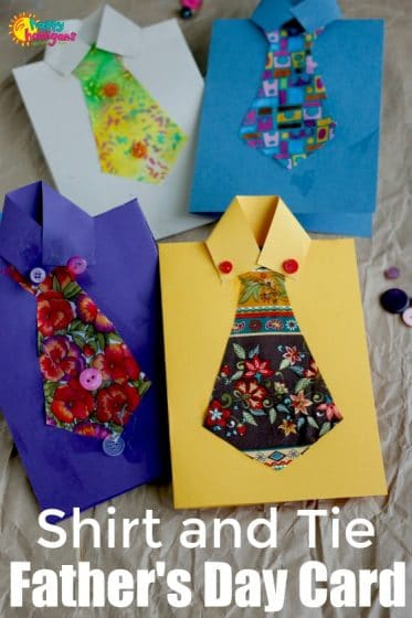 Homemade Shirt and Tie cards for Father's Day