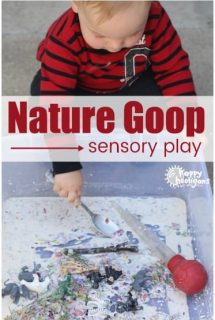 nature goop sensory play for toddlers and preschoolers