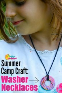 Painted Washer Necklace Craft for Kids