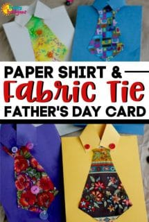 Paper Shirt and Fabric Tie Father's Day Card Idea
