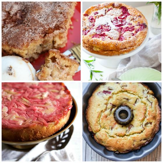 4 Rhubarb Cakes