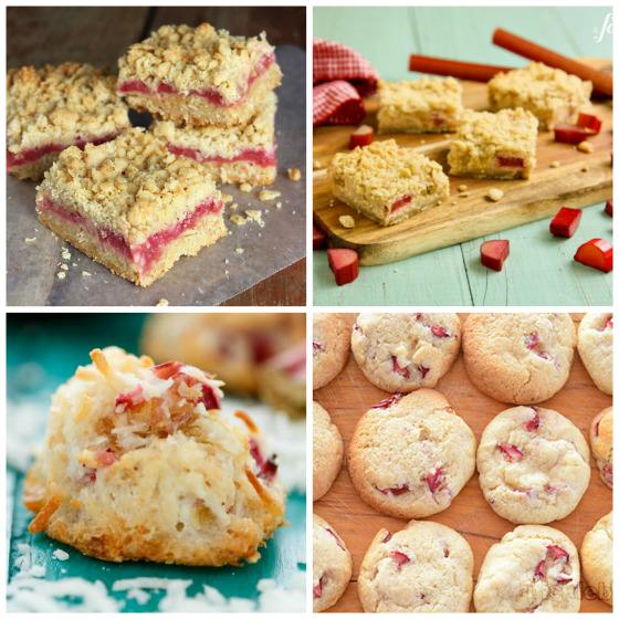 Rhubarb squares and rhubarb cookies