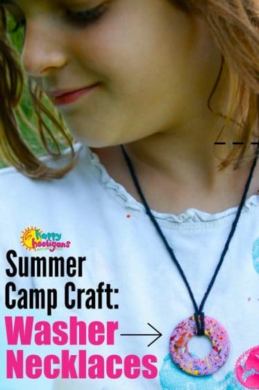 Washer Necklace Craft for Kids - Happy Hooligan