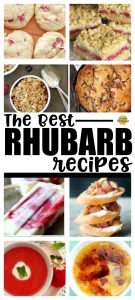rhubarb recipes collage