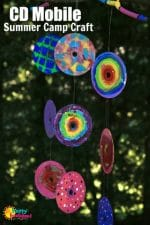 Painted CD Garden Mobile for Kids to Make