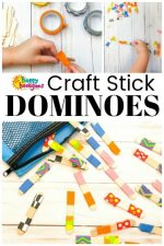 Craft Stick Dominoes that Kids can Make