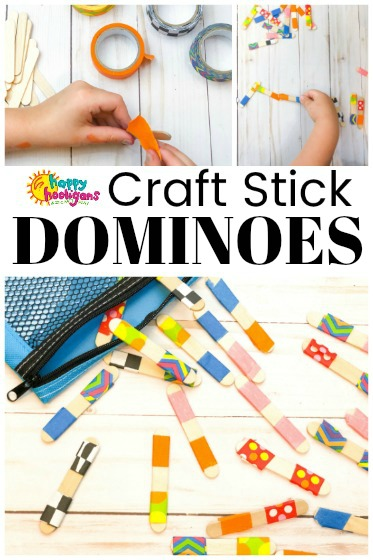 Craft Stick Dominos - Happy Hooligans