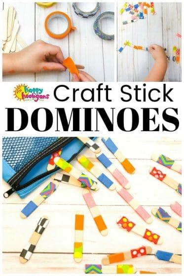 Homemade Craft Stick Dominos for Kids to Make
