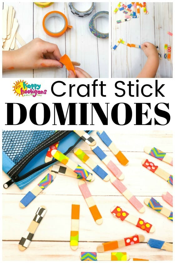 Homemade Craft Stick Dominos for Kids to Make