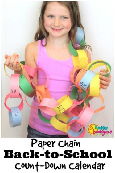 Back to school Paper Chain Count Down Calendar