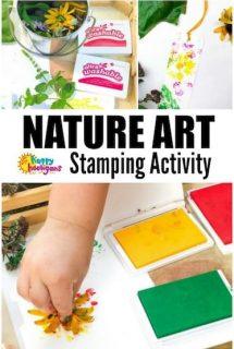 Nature Art Stamping Activity for Preschoolers