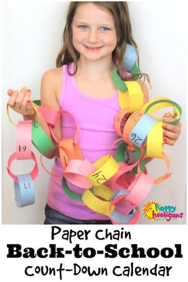 Paper Chain Count Down Calendar for back to school