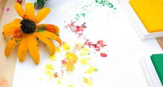 flower print on paper