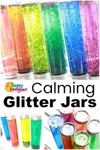 Calming Glitter Jars for Preschoolers