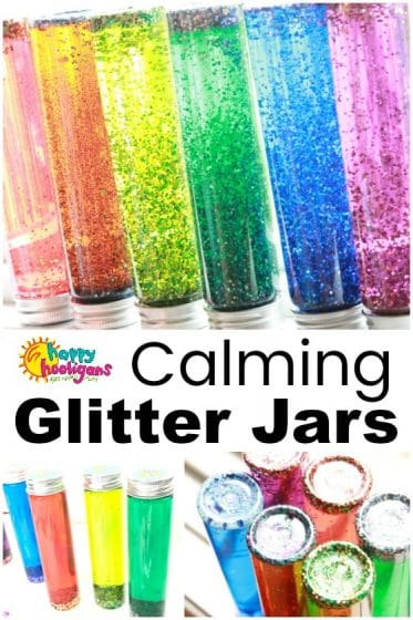 Calming Glitter Jars for Preschoolers