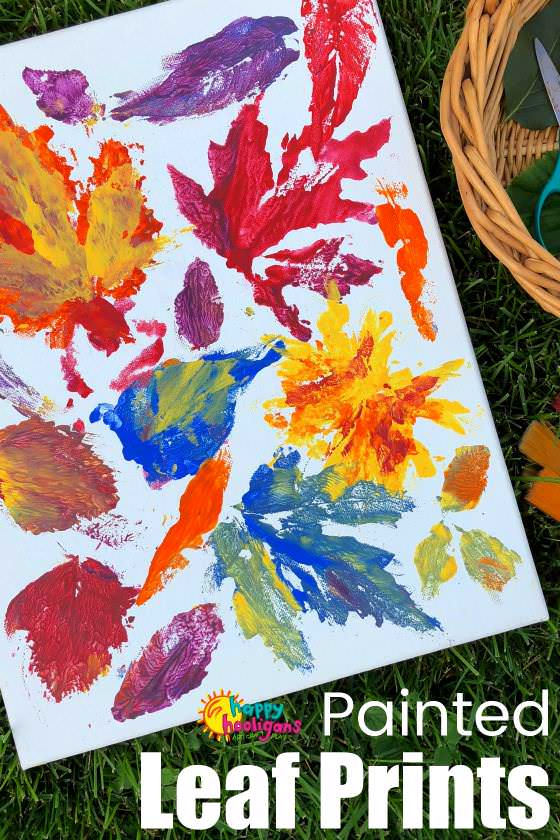 Leaf Printing Art Activity for Preschoolers and Toddlers