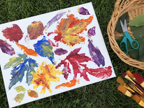 Leaf Prints made by toddler