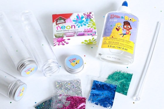 glitter jar supplies