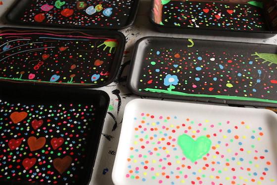 kids chalk art activity