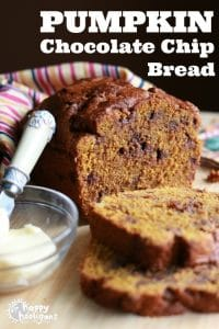 Pumpkin Chocolate Chip Bread with Coconut Oil and Whole Wheat Flour
