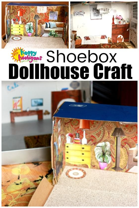 Shoebox Dollhouse Craft For Kids Happy Hooligans