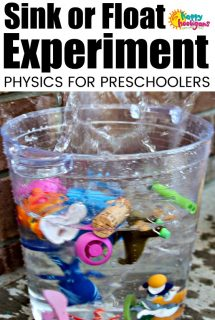 Sink or Float Experiment for Toddlers and Preschoolers