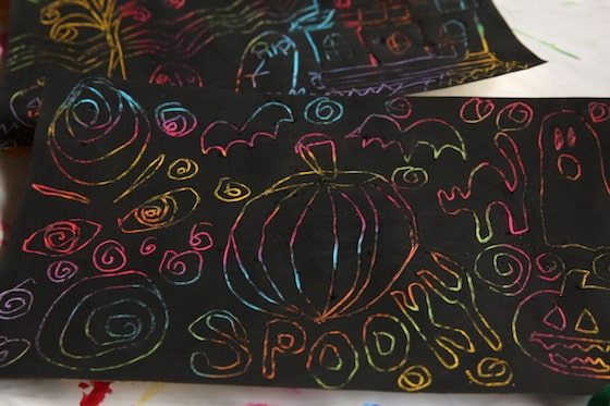 Spooky Halloween Scratch Art Project for Kids