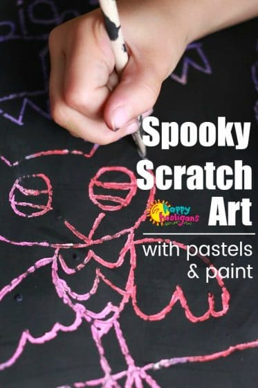 Spooky Scratch Art Project for Halloween for Kids
