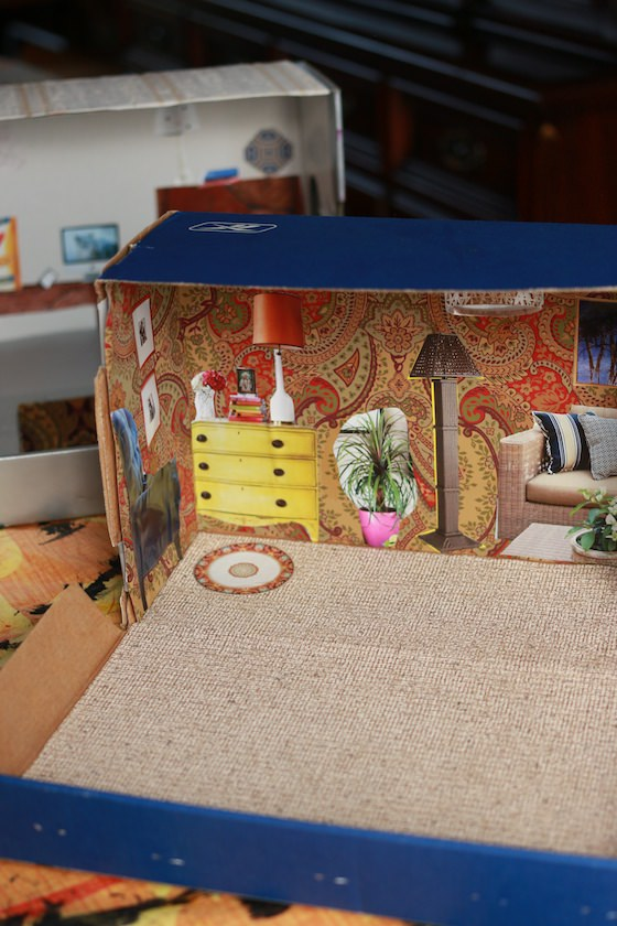 dollhouse from shoebox