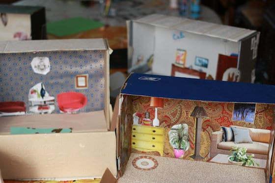finished shoebox dollhouses